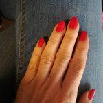 Czerwone paznokcie lakier hybrydowy